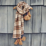 Snowy Cabin Tassel Scarf: Alternate View #2