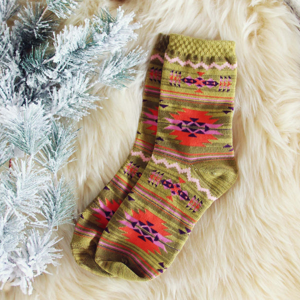 Snowy Cabin Socks: Featured Product Image