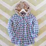 Snowy Canoe Plaid Top in Pine: Alternate View #3