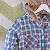 Snowy Canoe Plaid Top in Pine: Alternate View #2