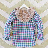 Snowy Canoe Plaid Top in Pine: Alternate View #4
