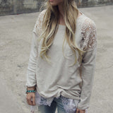 Snowy Lace Sweatshirt: Alternate View #2