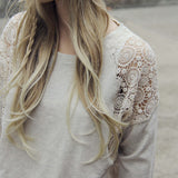 Snowy Lace Sweatshirt: Alternate View #3