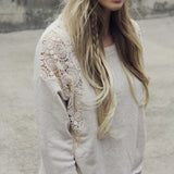 Snowy Lace Sweatshirt: Alternate View #1