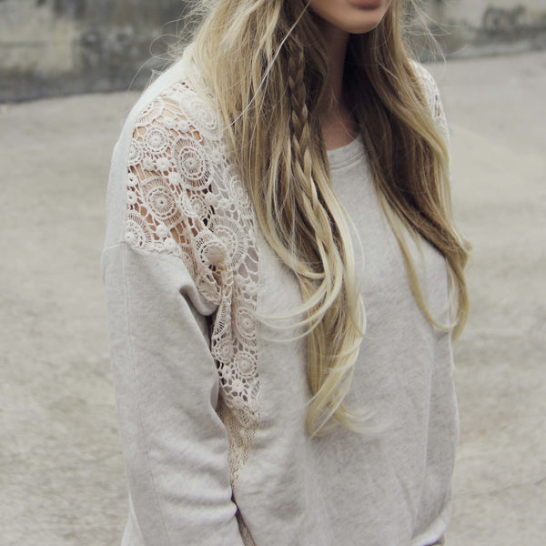 Snowy Lace Sweatshirt: Featured Product Image