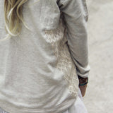 Snowy Lace Sweatshirt: Alternate View #4