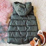 Snowy Seattle Vest in Olive: Alternate View #4