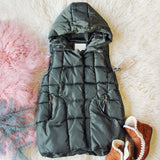Snowy Seattle Vest in Olive: Alternate View #1