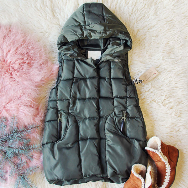 Snowy Seattle Vest in Olive: Featured Product Image