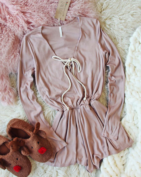 Snuggle In Thermal Romper: Featured Product Image