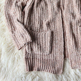 Softest Chenille Sweater in Taupe: Alternate View #6