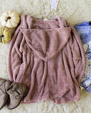 Softest Teddy Hoodie in Mauve: Alternate View #3