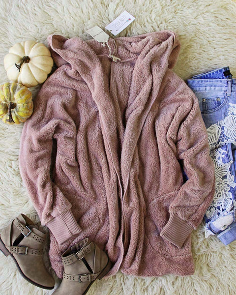 Softest Teddy Hoodie in Mauve: Featured Product Image