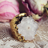 Solar Quartz Gold Ring: Alternate View #2