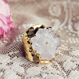 Solar Quartz Gold Ring: Alternate View #1