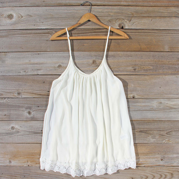 Solarium Lace Tunic in Ivory: Featured Product Image