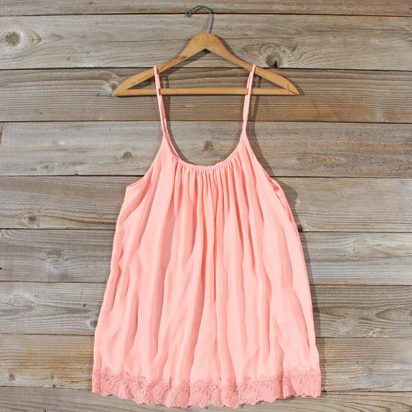 Solarium Lace Tunic in Peach: Featured Product Image