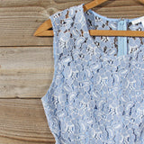 Something Blue Lace Romper: Alternate View #2