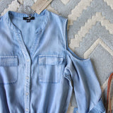 Sunny Chambray Romper: Alternate View #2