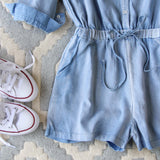 Sunny Chambray Romper: Alternate View #3