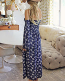 Sophie Maxi Dress in Blue: Alternate View #3