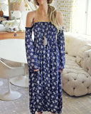 Sophie Maxi Dress in Blue: Alternate View #1