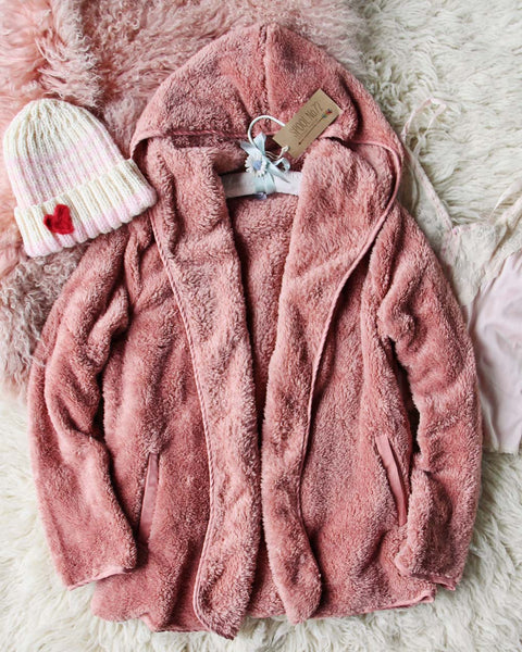 Soulmate Teddy Hoodie in Pink: Featured Product Image