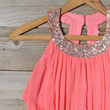 Ice Shadow Dress in Coral: Alternate View #2