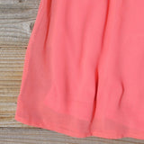 Ice Shadow Dress in Coral: Alternate View #3