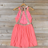 Ice Shadow Dress in Coral: Alternate View #1