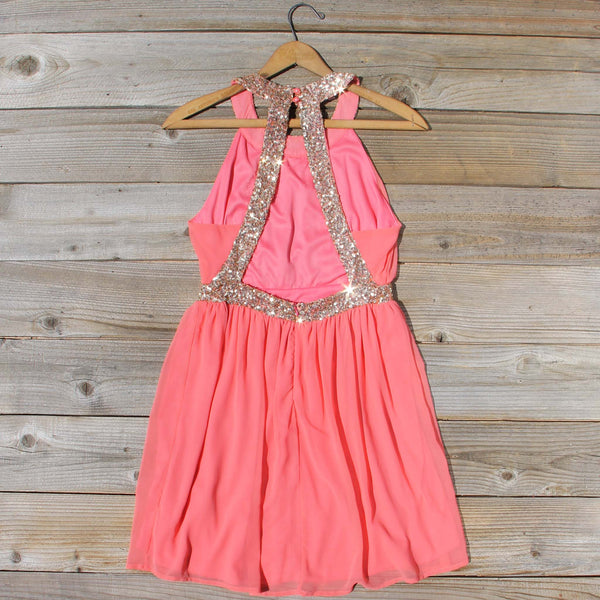 Ice Shadow Dress in Coral: Featured Product Image