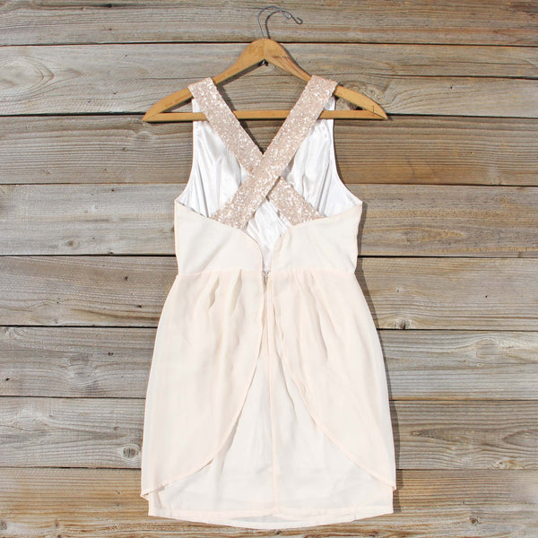 Sparkling Shadows Dress in Cream: Featured Product Image