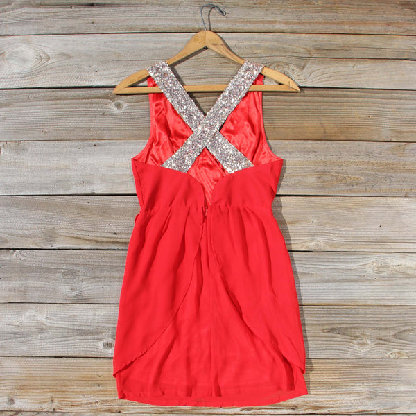 Sparkling Shadows Dress in Red: Featured Product Image