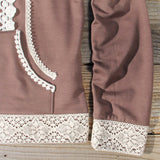 Spool Gym Lace Hoodie in Brown: Alternate View #3