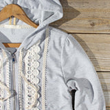 Spool Gym Lace Hoodie in Gray: Alternate View #2