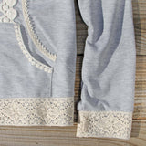 Spool Gym Lace Hoodie in Gray: Alternate View #3
