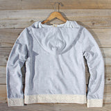Spool Gym Lace Hoodie in Gray: Alternate View #4