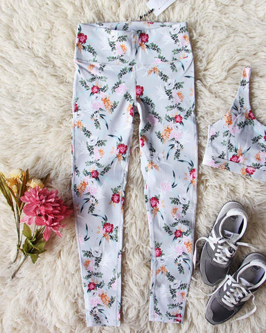 Sporty Gym Leggings in Floral