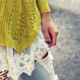 Spun Straw Lace Sweater: Alternate View #1