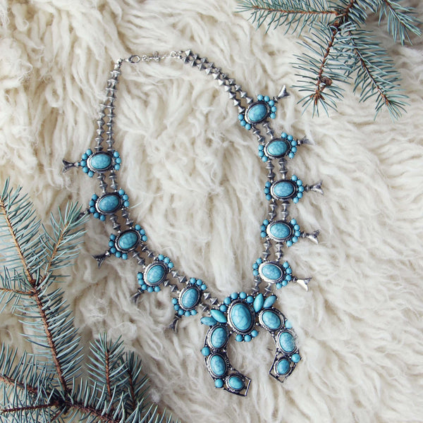 The Squash Blossom & Fir Necklace: Featured Product Image