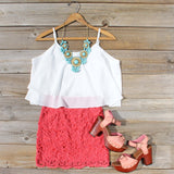 St. Tropez Dress in Coral: Alternate View #4