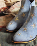 Starry Night Suede Boots in Sky: Alternate View #2