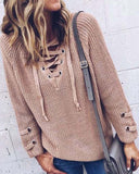Stevie Lace-Up Sweater: Alternate View #1