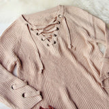 Stevie Lace-Up Sweater: Alternate View #3