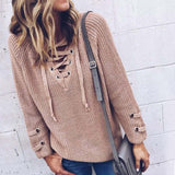 Stevie Lace-Up Sweater: Alternate View #6