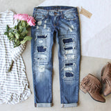 Stitch & Patch Boyfriend Jeans: Alternate View #1