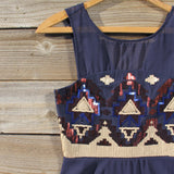 Stone Spell Beaded Dress in Navy: Alternate View #2