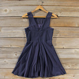 Stone Spell Beaded Dress in Navy: Alternate View #4
