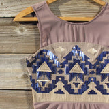 Stone Spell Beaded Dress in Dusty Taupe: Alternate View #2