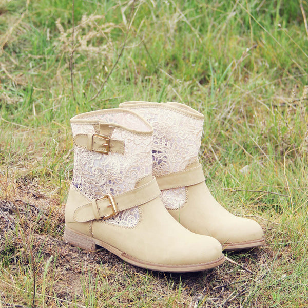 Stormy Desert Lace Boots: Featured Product Image